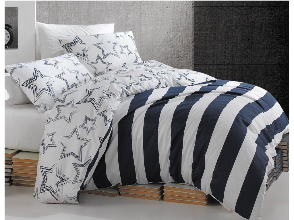 Obliečky Bavlna 140x200 + 70x90 - Stella Modré