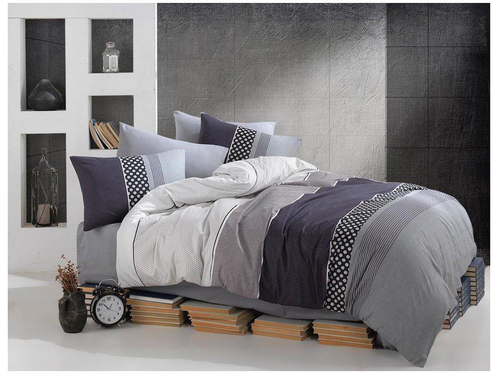 Obliečky Bavlna Deluxe 140x220 + 70x90 - Eifel šedé