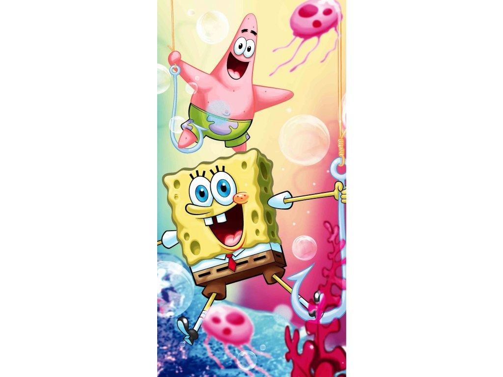 Bavlnená  froté osuška licenčné 70x140 - Sponge Bob 012