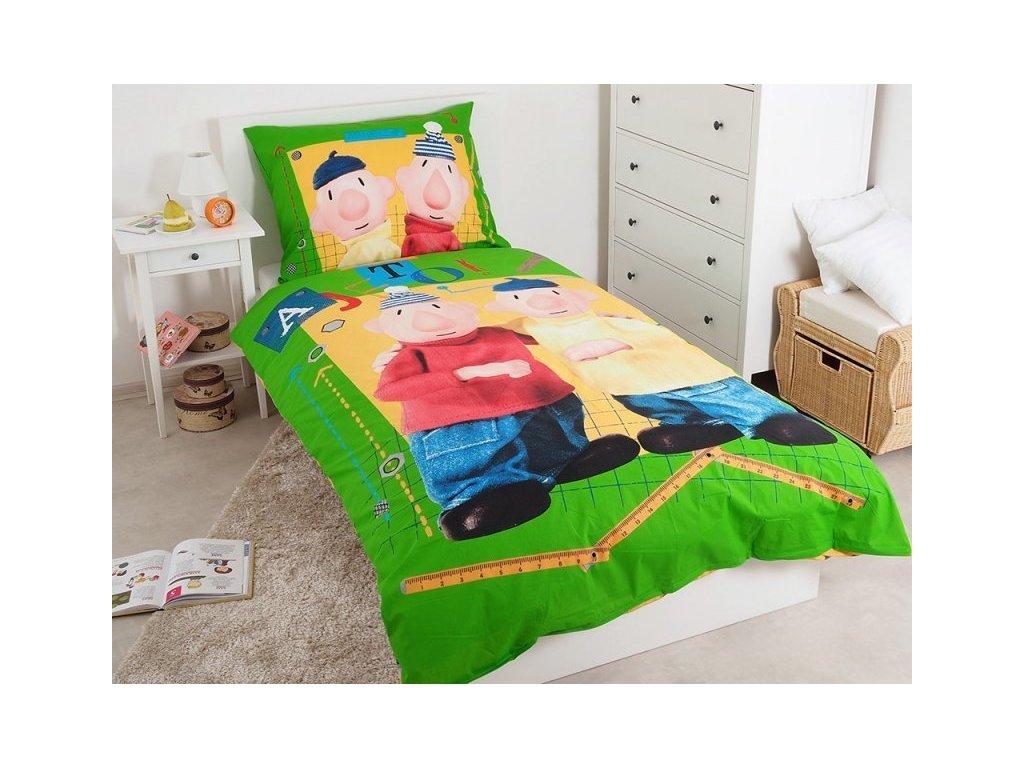 5126 detske postelne obliecky pat a mat green 140x200