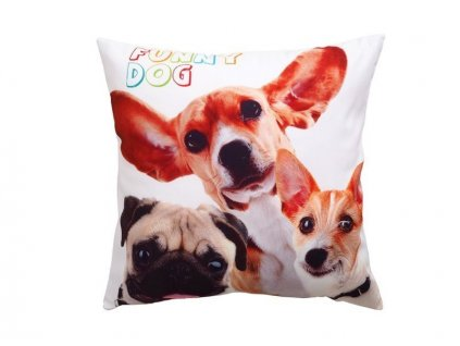 3062 dekoracny vankusik funny dogs 40x40