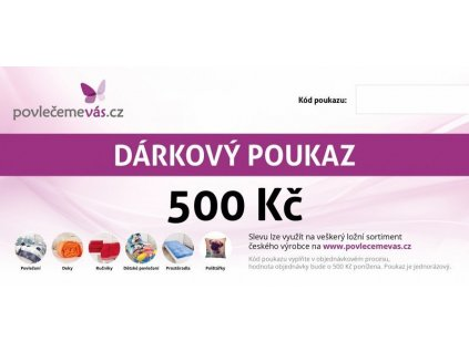 4685 tisteny darkovy poukaz v hodnote 500 kc