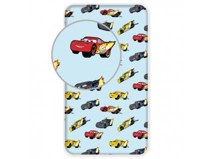 Bavlnené licenčné prestieradlo 90x200 s gumou - Cars Madness
