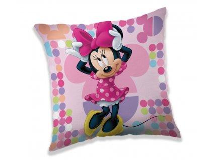 Dekoračný detský vankúšik Minnie Pink 03 40x40