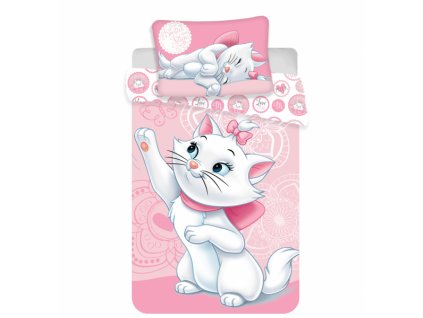 5255 detske obliecky do postielky marie cat baby rose 100x135