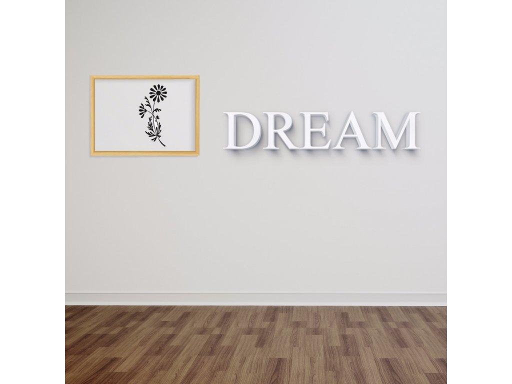 3D nápis Dream - 120 x 24 cm
