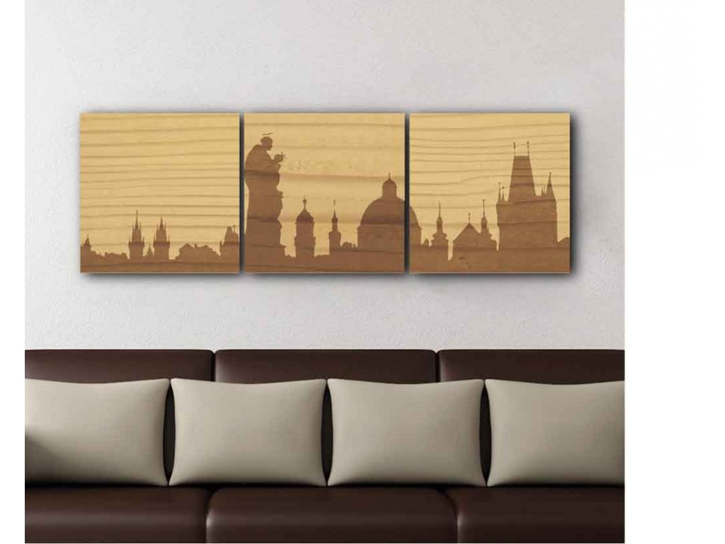 Dřevěný obraz Praha