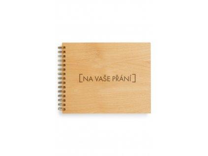 Dřevěná kniha - na vaše přání