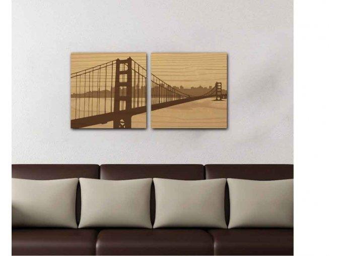 Dřevěný obraz San Francisco