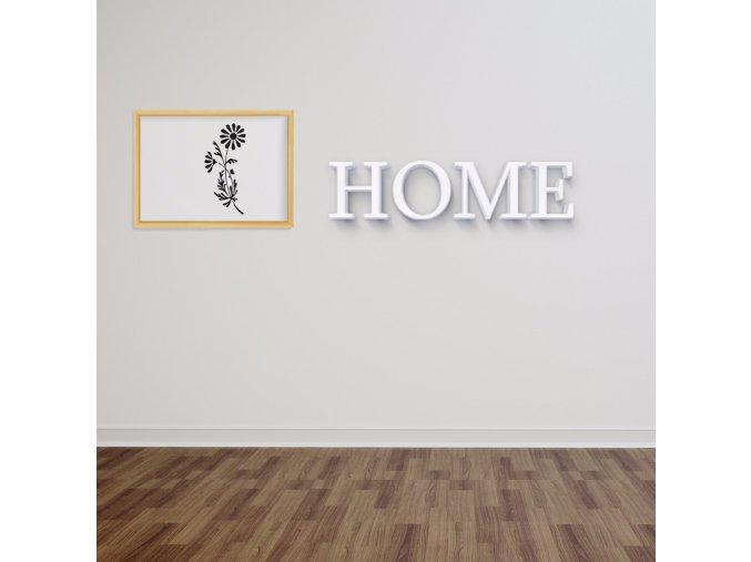 3D nápis Home - 120 x 29 cm
