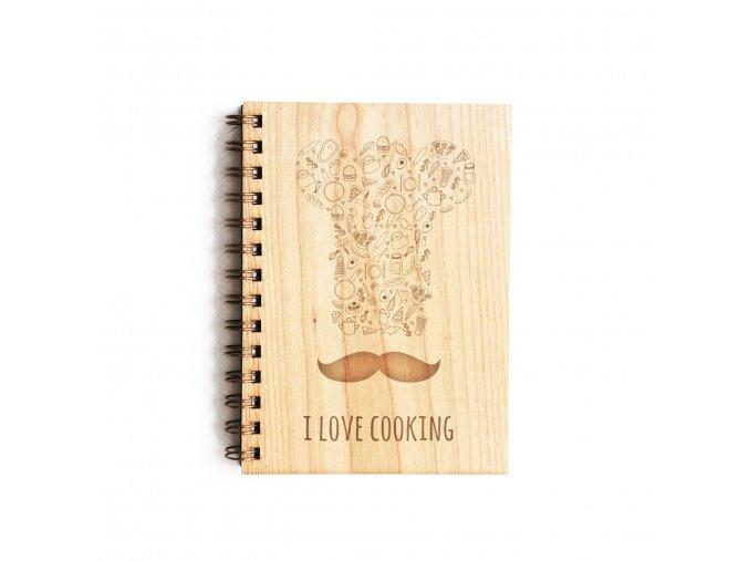 Dřevěný poznámkový blok - vaření