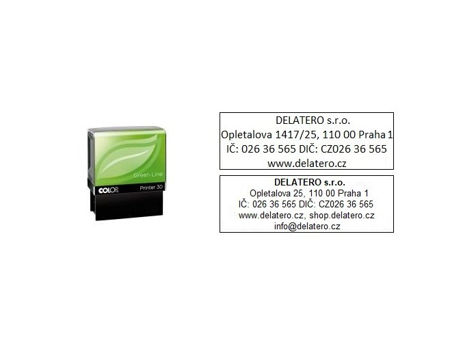 Razítko Printer 30 Green Line