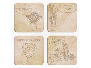 Sada designových podtácků Kaktusy