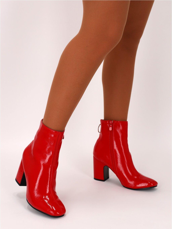 lakovane cizmy NS051RED 1