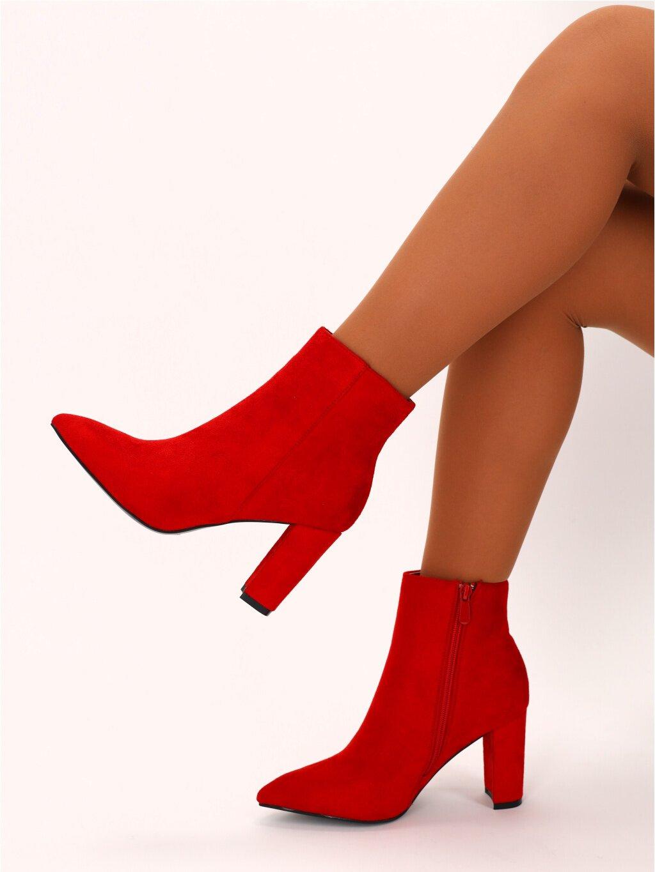 cervene damske kotnicky NS038RED 4