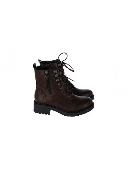 Hnedé členkové topánky dámske - (FARBA HNEDÁ, VEĽKOSŤ 36, KATEGÓRIA Dámske členkové čižmy)