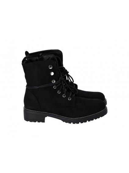 Členkové dámske topánky čierne - (FARBA ČIERNA, VEĽKOSŤ 37, KATEGÓRIA Dámske členkové čižmy)