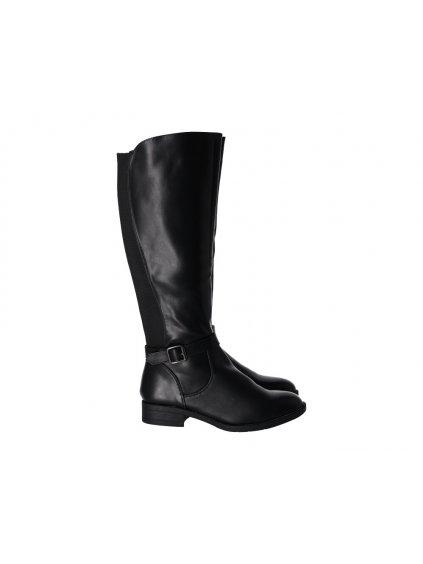 Čierne dámske čižmy - (FARBA ČIERNA, VEĽKOSŤ 36, KATEGÓRIA Dámske čižmy)