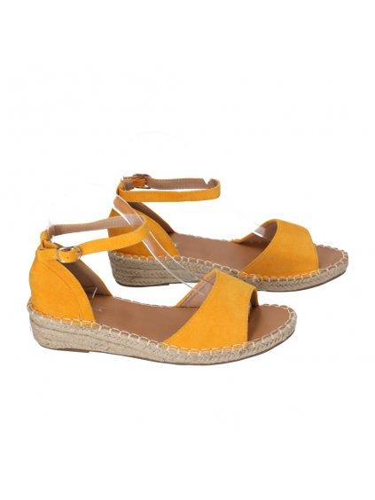 zlte sandale damske Y002 4 1