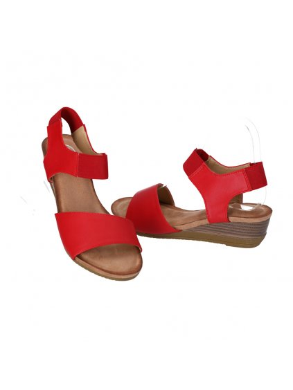 damske cervene sandale na nizkej platforme AB9173 3 2