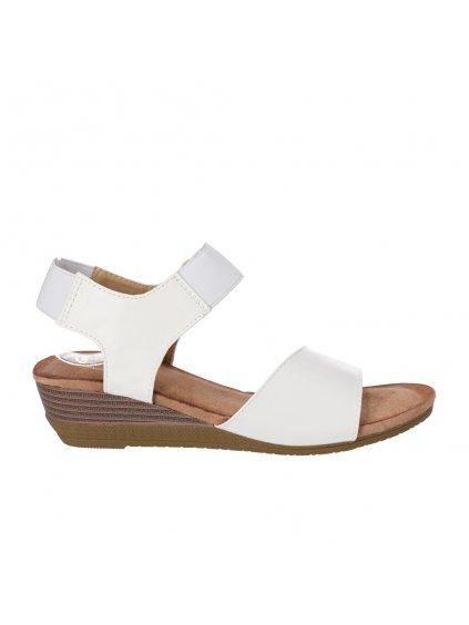 damske biele sandale na nizkej platforme AB9173 4 1