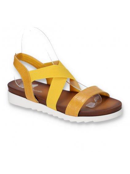 zlte damske sandale s elastickou gumou CB1903 3 YELLOW 2