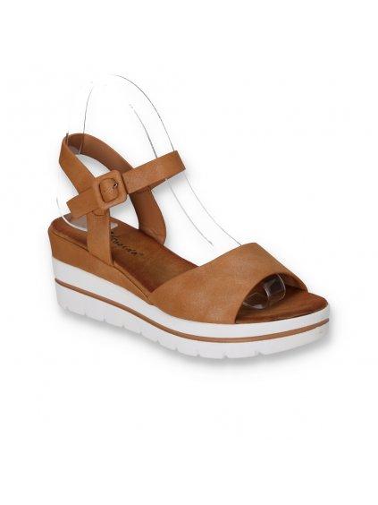 hnede damske sandale na platforme W950 2 CAMEL 2