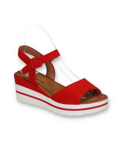 cervene damske semisove sandale na platforme W950 5 RED 2