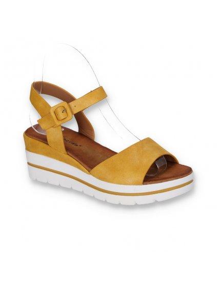 zlte damske sandale na platforme s remienkom W950 3 YELLOW 2