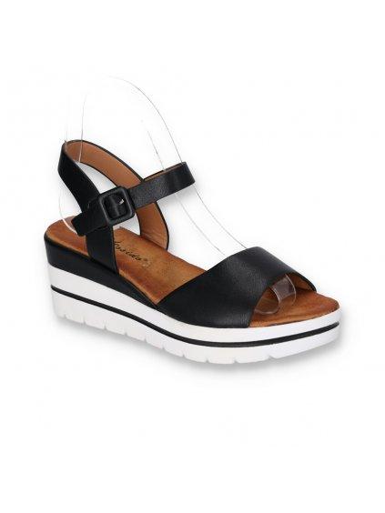 cierne damske sandale na platforme W950 1 BLACK 2