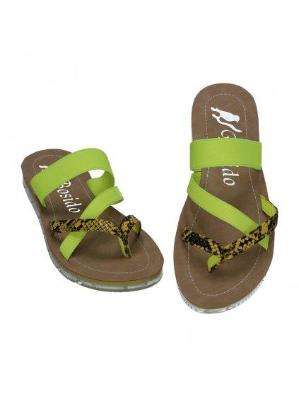 zelene flip flopy s elastickymi remienkami NK186 4 5