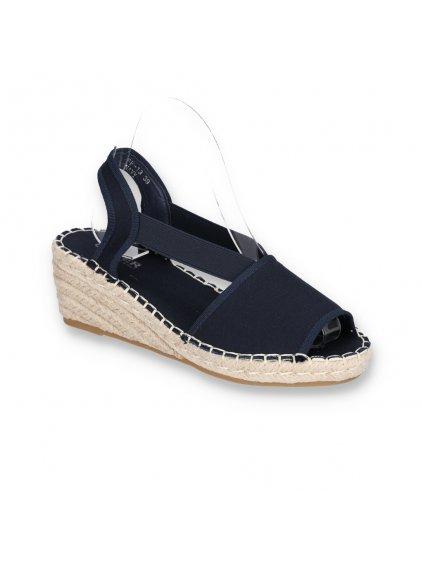damske modre sandale na platforme BF-13 NAVY 2