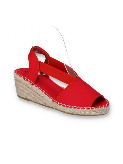 cervene damske sandale espadrilkove BF-13 RED 2