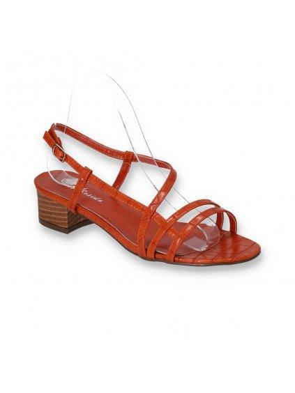 damske sandale na opatku oranzove FD12-4 ORANGE 2