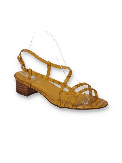 zlte sandalky na hrubom opatku FD12-3 YELLOW 2