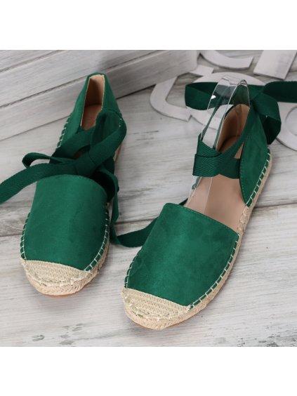 zelene espadrilky so stuhami OM245 13 3