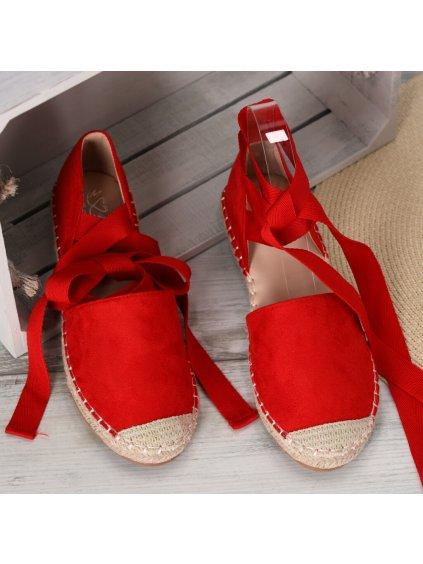 damske espadrilky so stuhami OM 245 12 RED 4