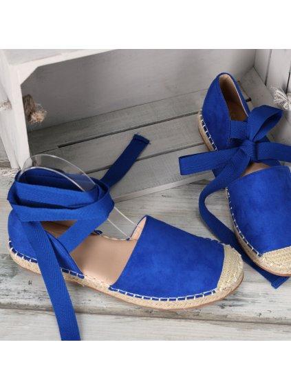 damske espadrilky so stuhami OM245 8 ROYAL BLUE 3