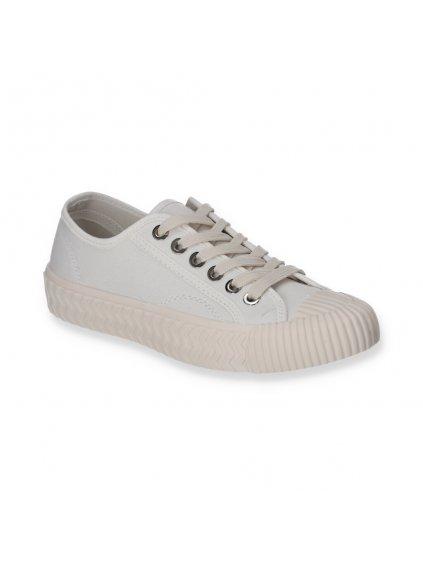 biele damske platene tenisky snurovacie LC9722 2 WHITE 2