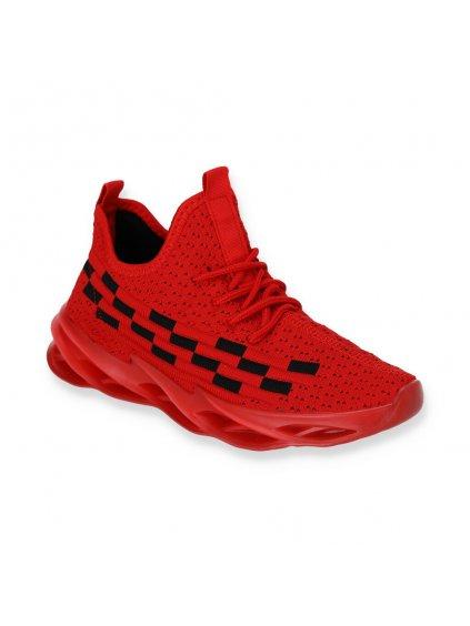 cervene damske platene tenisky DS8831 3 RED 3