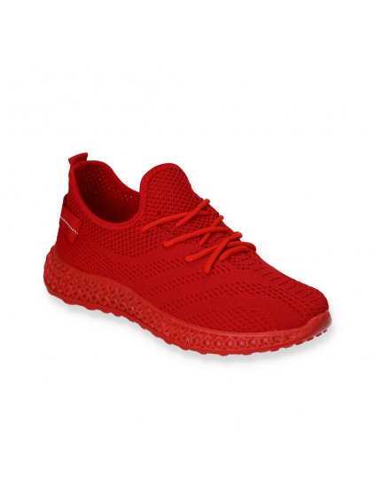 cervene snurovacie damske sportove latkove tenisky J97-6 RED 2