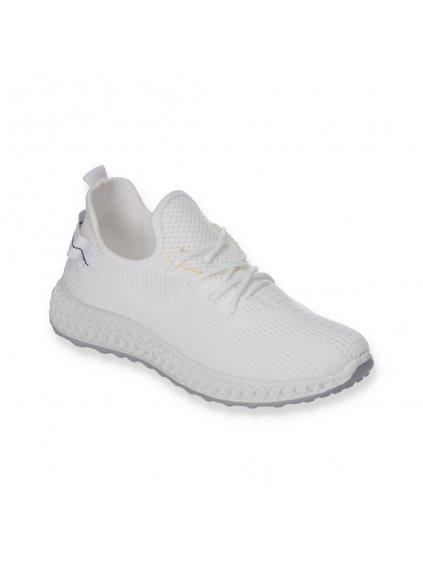 Biele damske latkove tenisky snurovacie J97-2 WHITE 2
