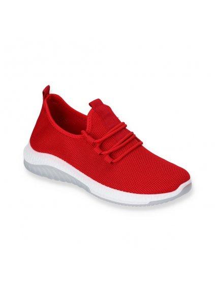 cervene damske sportove tenisky J101-7 RED 2