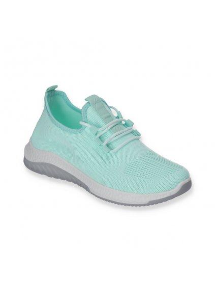 Látkové modré dámske tenisky šnúrovacie J110-6 (Veľkosť 41)