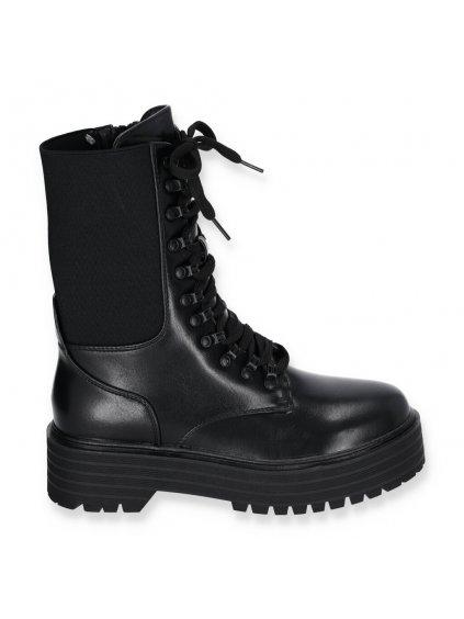 Cierne damske clenkove cizmy k220 BLACK 1
