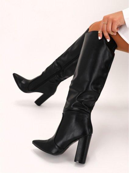 cierne damske cizmy K230 1