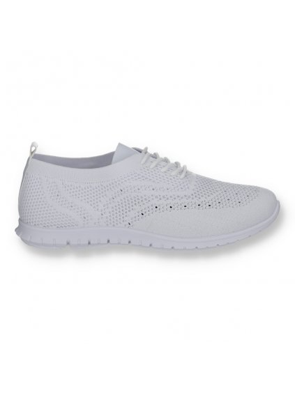 biele damske tenisky latkove 821WHITE 1