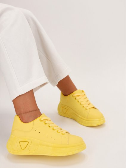 zlte damske tenisky LA158YELLOW 1