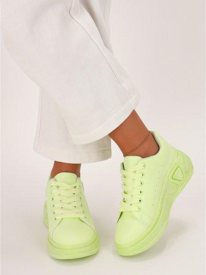 zelene damske tenisky LA158 GREEN 2