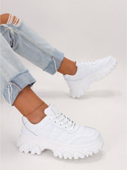 biele damske tenisky LA151WHITE 6